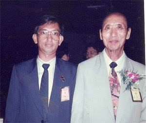 Master Leyau and Zeng Zi Nan at The 10th International Conference of Yi Ching Learning in Taiwan 1993 .7. 25