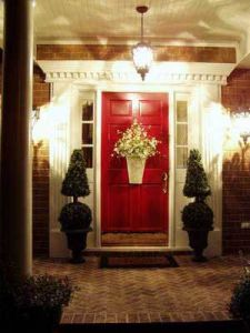 red-front-door-lights